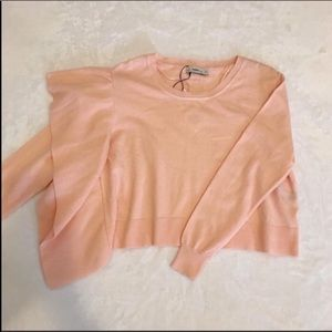 Zara Blush Pink Side Knit Sweater Size Medium